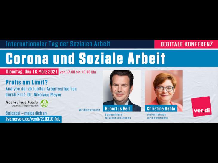 Digitale Konferenz: Corona und Soziale Arbeit. Profis am Limit? Foto: ver.di